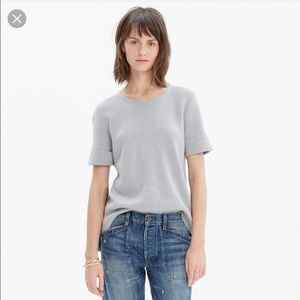 Madewell short sleeve wool sweater top